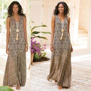 Soft Surroundings Tulum Printed Maxi Dress